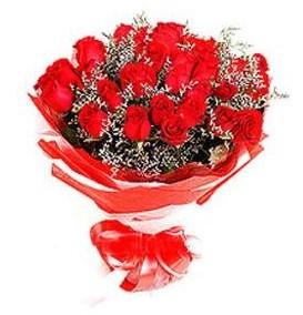 Balıkesir çiçek mağazası , çiçekçi adresleri  12 adet kırmızı güllerden görsel buket