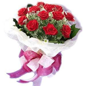 Balıkesir çiçek satışı  11 adet kırmızı güllerden buket modeli