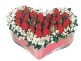 Balıkesir çiçekçi telefonları  mika kalpte kirmizi güller 9