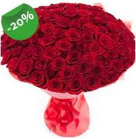Özel mi Özel buket 101 adet kırmızı gül  Balıkesir anneler günü çiçek yolla