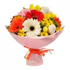 Karışık mevsim buketi Mevsimsel çiçek  Balıkesir internetten çiçek siparişi