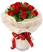 12 adet kırmızı gül buketi  Balıkesir anneler günü çiçek yolla