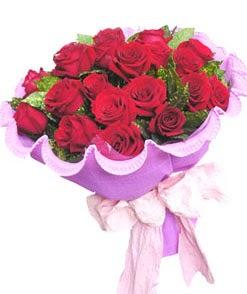 12 adet kırmızı gülden görsel buket  Balıkesir çiçekçi mağazası