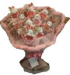 12 adet tavşan buketi  Balıkesir çiçek mağazası , çiçekçi adresleri