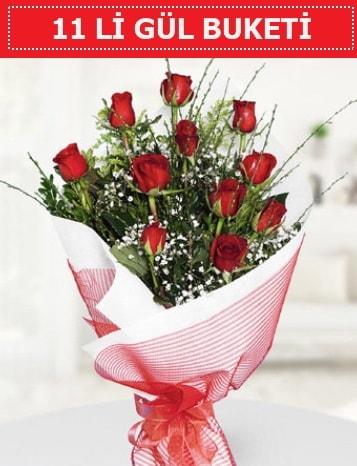 11 adet kırmızı gül buketi Aşk budur  Balıkesir çiçek gönderme sitemiz güvenlidir